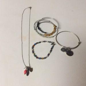 Jewelry - Jewelry lot bangles 925 Faith necklace gemstone